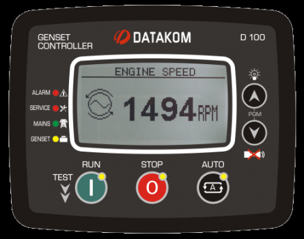 D-100 J1939 Контроллер для генератора (подогрев дисплея)
