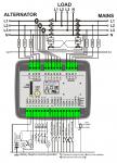 D-100 J1939+GSM Контроллер для генератора (подогрев дисплея)