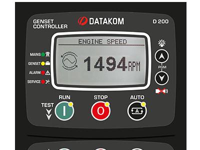 D-200 J1939+GSM Контроллер для генератора (подогрев дисплея)