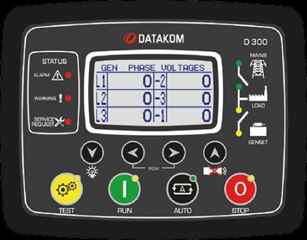 D-300 MK2 MPU+J1939 Контроллер для генератора (подогрев дисплея)
