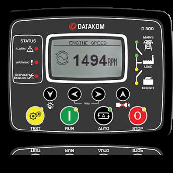 D-300-P MPU+J1939+GSM 12В Контроллер для генератора с зарядным устройством (подогрев дисплея)