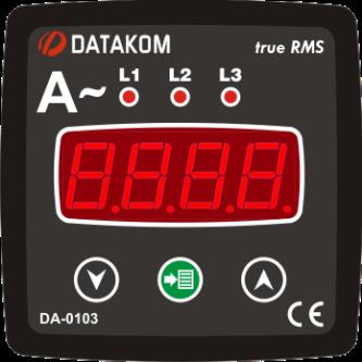 DA-0103 амперметр, 3-фазный, 72х72