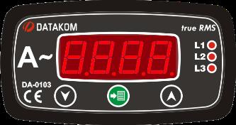 DA-0103 амперметр, 3-фазный, 96х48