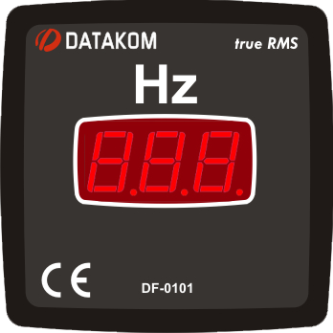 DF-0101 частотомер, 1-фазный, 72x72