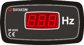 DF-0101 частотомер, 1-фазный, 96x48