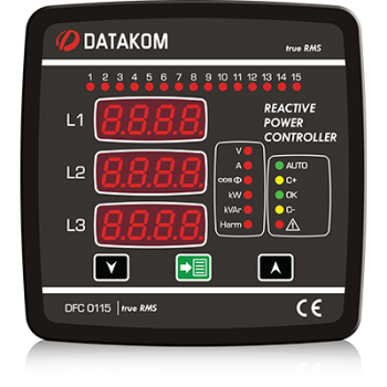 DFC-0115 Контроллер коэффициента мощности (12 шагов) 144х144мм