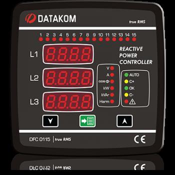 DFC-0115 Контроллер коэффициента мощности (15 шагов, ген, авар, 485) 144х144мм