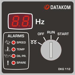 DKG-112 Ручной запуск генератора (24V energize to stop)