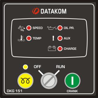 DKG-151 Ручной запуск генератора (релейные выходы 10А)
