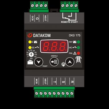 DKG-175 din rail Автоматическое переключение сети (Сух.конт.на запуск генер., программируемый)