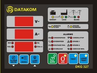 DKG-327 Автоматическое переключение сети (Сух.конт.на запуск генератора)
