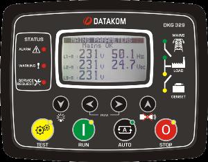 DKG-329 Автоматическое переключение сети с синхроскопом (Сух.конт.на запуск генератора)