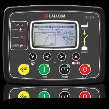 DKG-379-CAN-ANL DC genset controller, J1939+0-10V