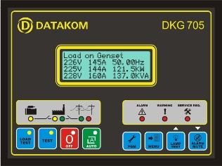 DKG-705 J1939 Автозапуск генератора с синхронизацией