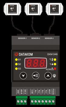 DKM-046 Измеритель температуры/влажности с дисплеем и релейными выходами