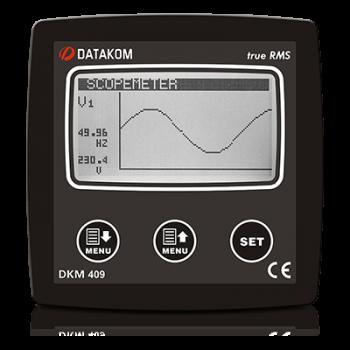 """DKM-409-S Анализатор сети, 96х96мм, 2.9"""" LCD + 31 гармоника, AC"""