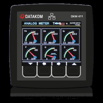 "DKM-411 96x96мм, 3.5""TFT цветной, Ethernet, USB/Host, USB/Device, RS485, RS232, 2-вх, 2-вых, AC"