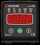 DM-0101 мультиметр, 1-фазный, 72х72
