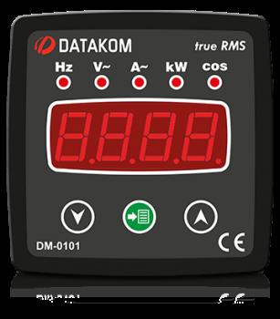 DM-0101 мультиметр, 1-фазный, 96х96