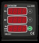 DM-0301 мультиметр, 1-фазный, 3 дисп. 72х72