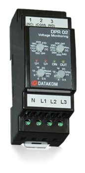 DPR-02 Реле контроля фаз, L-N, UV/OV