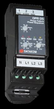 DPR-05 Реле защиты мотора, L-N, asymmetry