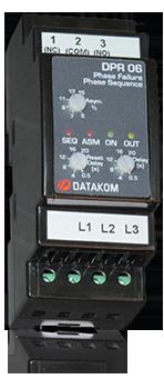 DPR-06 Реле защиты мотора, L-L, asymmetry
