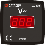 DV-0101 вольтметр, 1-фазный, 72x72