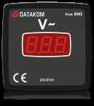 DV-0101 вольтметр, 1-фазный, 96x96