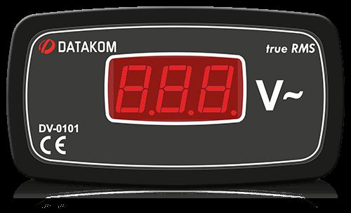DV-0101 вольтметр, 1-фазный, изолированное питание, 96x48