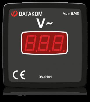 DV-0101 вольтметр, 1-фазный, изолированное питание, 96x96