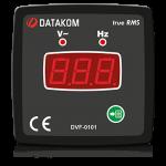 DVF-0101 вольтметр-частотомер, 1-фазный, 72x72