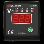 DVF-0103 вольтметр-частотомер, 3-фазный, 72x72