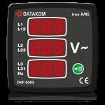 DVF-0303 вольтметр-частотомер , 3-фазный,3 дисп. 72x72